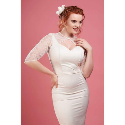 Collectif Belle Brocade Rose Bolero-Ivory-Vendemia