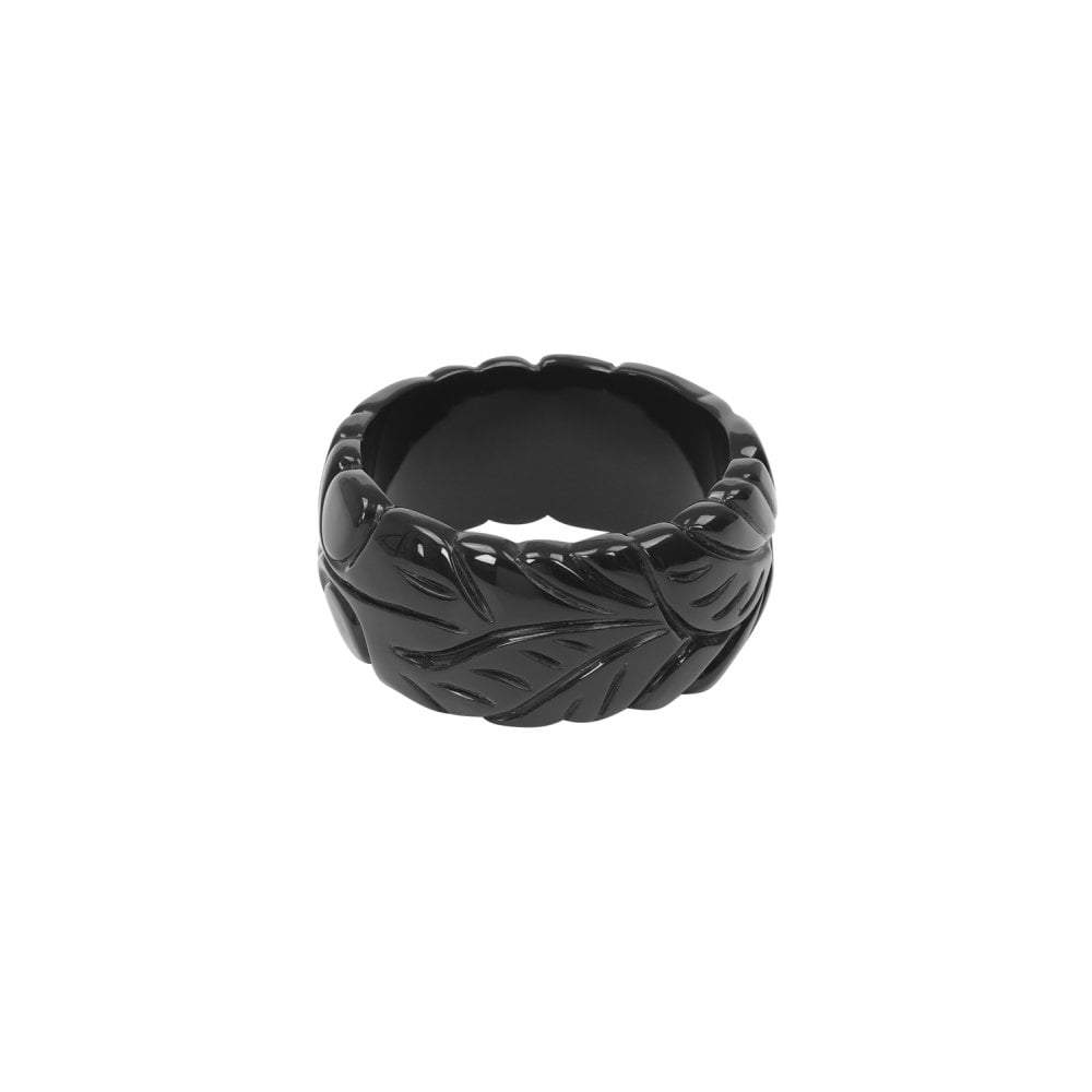 Collectif Carrie 40s Leaves Bangle Black-Black-Vendemia