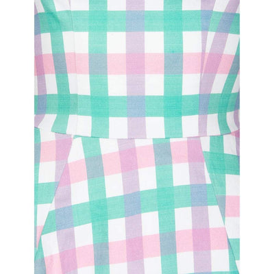 Collectif Chloe Candy Stripe Gingham Dress-Vendemia
