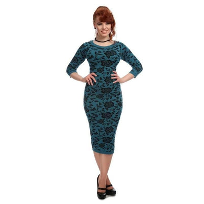 Collectif Ivana Knitted Dress Blue-Blue-Vendemia