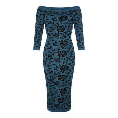 Collectif Ivana Knitted Dress Blue-Vendemia