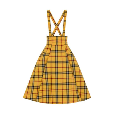 Collectif Mainline Alexa Clueless Swing Skirt Yellow-Vendemia