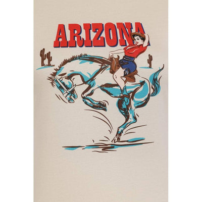 Collectif Mainline Arizona Western T-shirt-Ivory-Vendemia