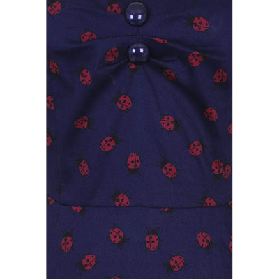 Collectif Mainline Dolores Half Sleeve Ladybird Doll Dress-Vendemia