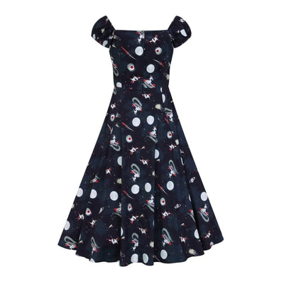 Collectif Mainline Dolores Space Pin Up Doll Dress-Vendemia