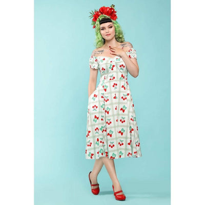 Collectif Mainline Dolores Sweetheart Picnic Doll Dress-Vendemia