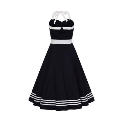Collectif Mainline Georgie Nautical Swing Dress-Vendemia