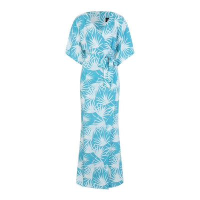 Collectif Mainline Kelly Palm Print Maxi Dress-Vendemia