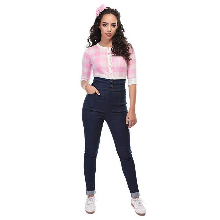 Collectif Mainline Nomi Plain High Waisted Jeans-Vendemia