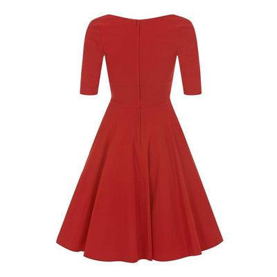 Collectif Mainline Trixie Doll Dress Wine-Vendemia