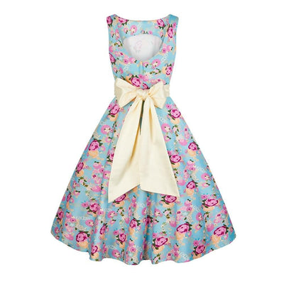 Collectif Margaret Peony Floral Swing Dress-Vendemia