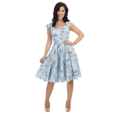 Collectif Sandra Car Swing Dress-Vendemia