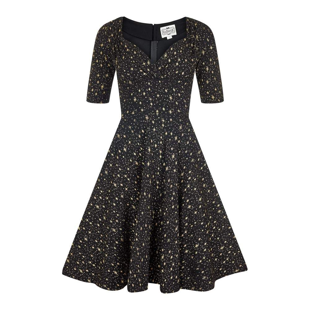 Collectif Trixie Atomic Star Doll Dress Black-Black-Vendemia