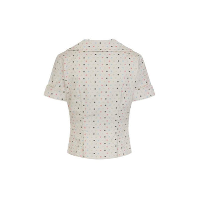 Collectif Vintage Brette Polka Dot Shirt-Vendemia