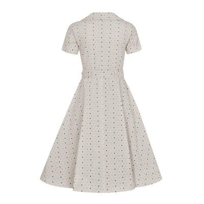Collectif Vintage Brette Polka Dot Swing dress-Vendemia