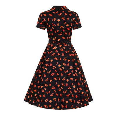 Collectif Vintage Caterina Acorn Swing Dress-Vendemia