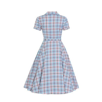 Collectif Vintage Caterina Vintage Check Swing Dress-Vendemia