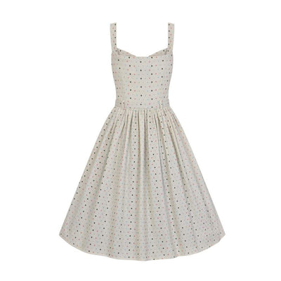 Collectif Vintage Jemima Polka Dot Swing Dress-Vendemia