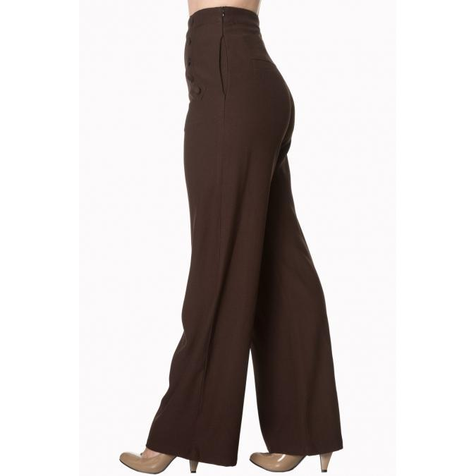 Dancing Days by Banned Apparel Full Moon Trousers-Brown-Vendemia