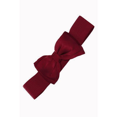 Dancing Days by Banned Bella Belt-Burgundy-Vendemia
