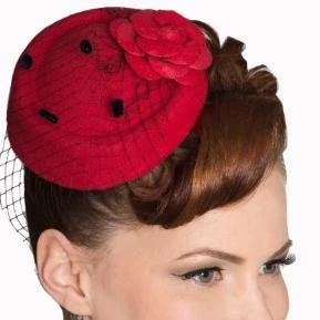 Dancing Days by Banned Marilyn fascinator-Red-Vendemia