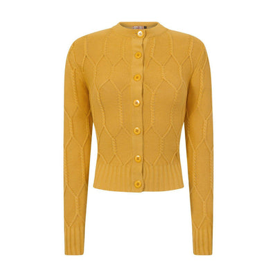 Dancing Days Midnight Daze Cardigan-Mustard-Vendemia