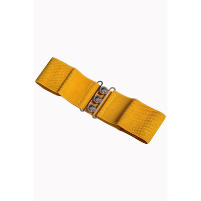 Dancing Days Vintage Stretch Belt-Mustard-Vendemia