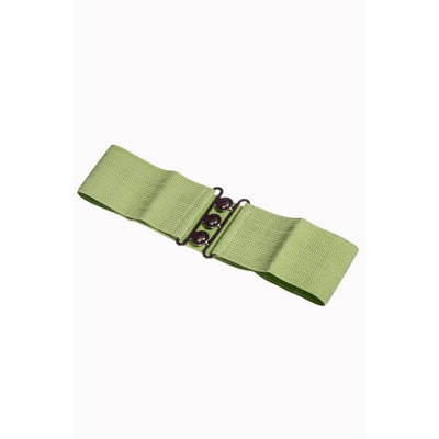 Dancing Days Vintage Stretch Belt-Olive-Vendemia