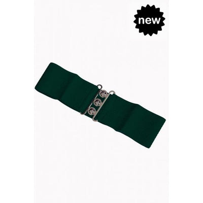 Dancing Days Vintage Stretch Belt-Forest Green-Vendemia