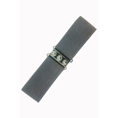 Dancing Days Vintage Stretch Belt-Silver-Vendemia