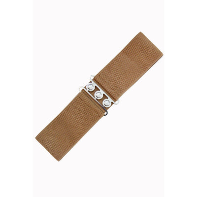 Dancing Days Vintage Stretch Belt-Light Brown-Vendemia