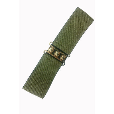 Dancing Days Vintage Stretch Belt-Gold-Vendemia