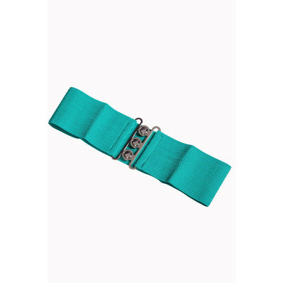 Dancing Days Vintage Stretch Belt-Aqua-Vendemia