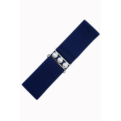 Dancing Days Vintage Stretch Belt-Navy-Vendemia