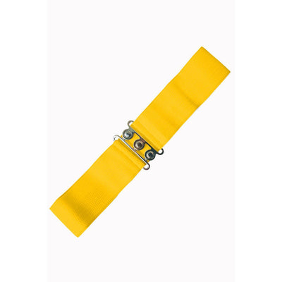 Dancing Days Vintage Stretch Belt-Yellow-Vendemia
