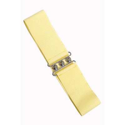 Dancing Days Vintage Stretch Belt-Pale Yellow-Vendemia