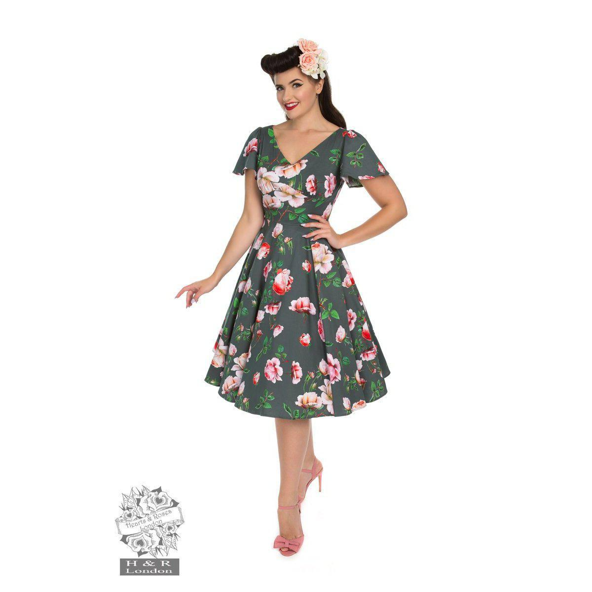 Hearts & Roses Amour Swing Dress-Vendemia