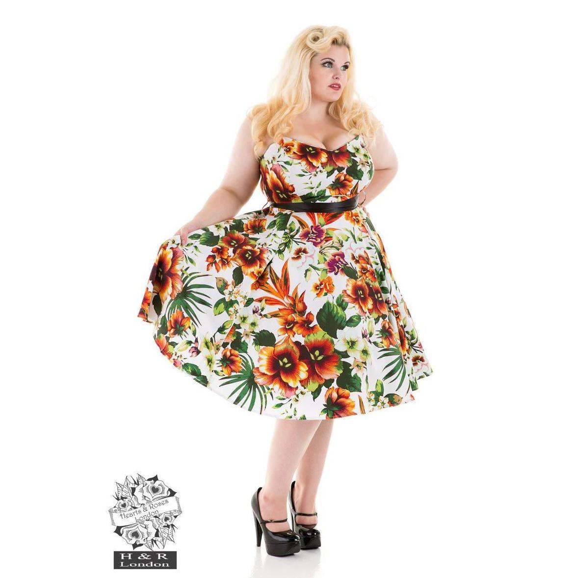 Hearts & Roses Princess Lilly Swing Dress-Orange-Vendemia