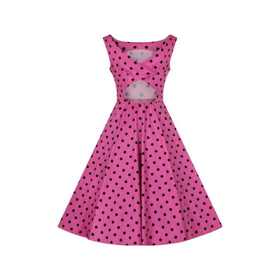 Hearts & Roses Rhiannon Swing Dress Raspberry-Vendemia