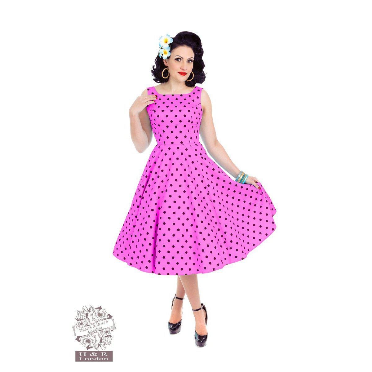 Hearts & Roses Rhiannon Swing Dress Raspberry-Pink-Vendemia