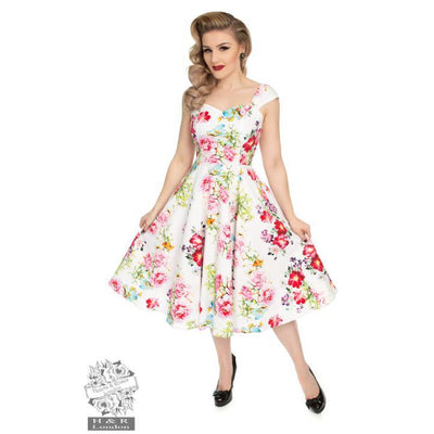Hearts & Roses Rose Paradise Swing Dress-Vendemia