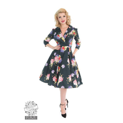 Hearts & Roses Stardust Floral Swing Dress-Vendemia