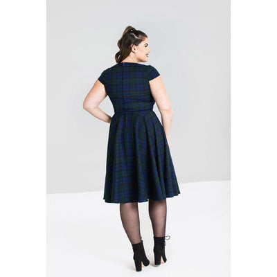 Hell Bunny Aberdeen 50s Swing Dress-Vendemia
