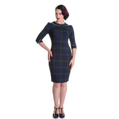 Hell Bunny Doralee Pencil Dress-Vendemia