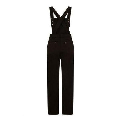 Hell Bunny Elly May Denim Dungaree-Vendemia