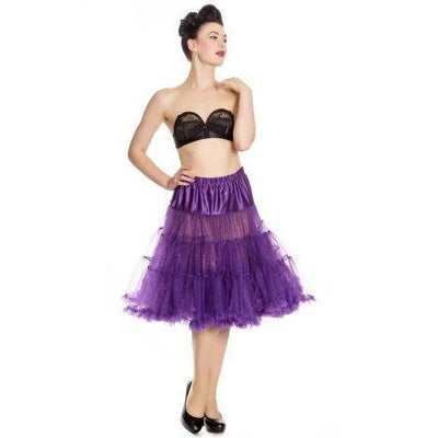 Hell Bunny Long Petticoat-Purple-Vendemia