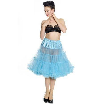 Hell Bunny Long Petticoat-Turquoise-Vendemia