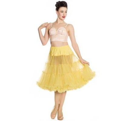 Hell Bunny Long Petticoat-Yellow-Vendemia
