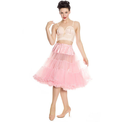 Hell Bunny Long Petticoat-Dolly Pink-Vendemia