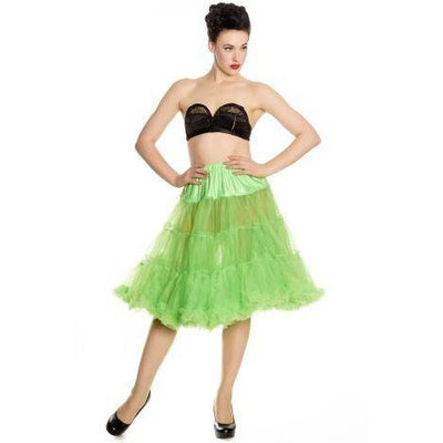 Hell Bunny Long Petticoat-Monster Green-Vendemia